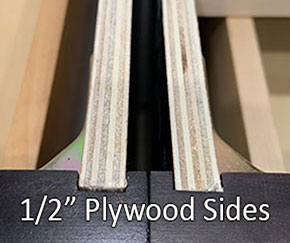 Plywood sides